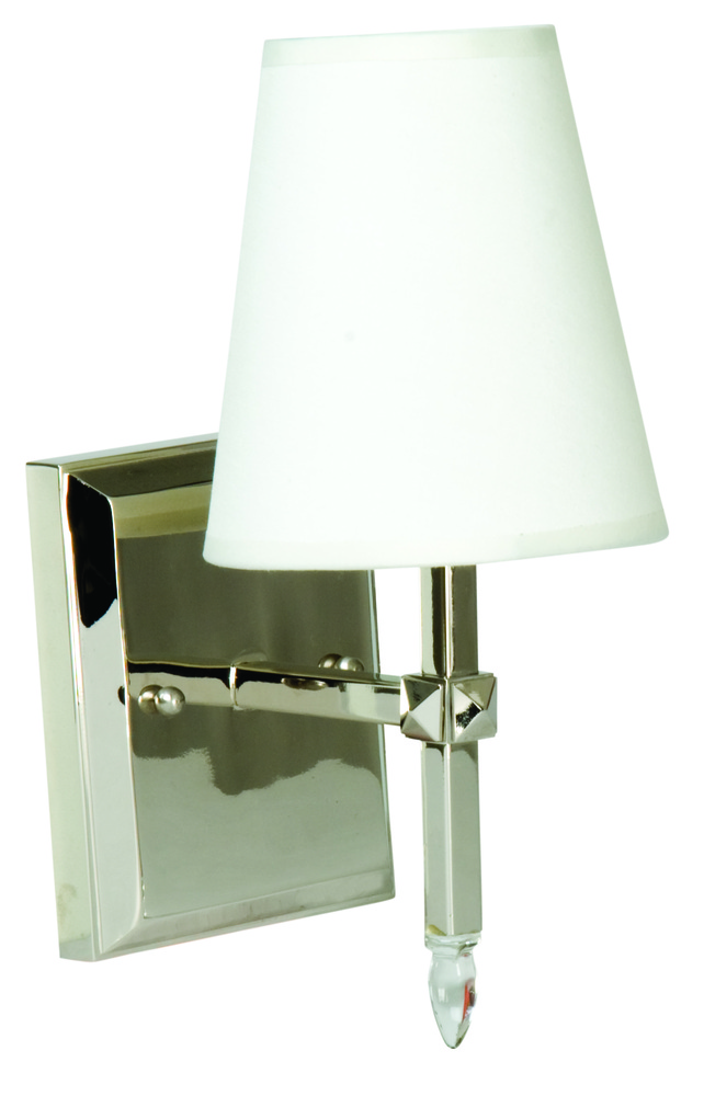 l5v6 one light polished nickel bathroom sconce