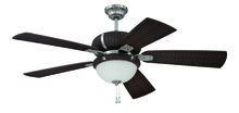 "Craftmade LAP54SSDW5 - La Playa 54"" Ceiling Fan with Blades and Light in Stainless Steel/Dark Wicker"