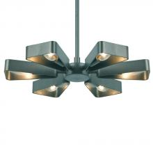 Crystorama 594-GY - Crystorama Luna 6 Light Gray Finish Mini Chandelier