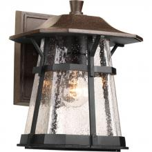 Progress P5750-84 - One Light Clear Seeded Glass Espresso Wall Lantern
