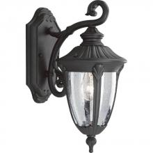 Progress P5820-31 - One Light Clear Seeded Glass Textured Black Wall Lantern