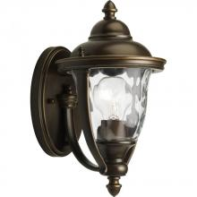 Progress P5920-108 - One Light Oil Rubbed Bronze Clear Optic Glass Wall Lantern