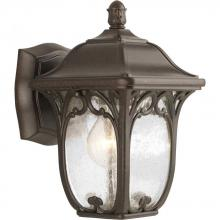 Progress P5967-84 - One Light Clear Seeded Glass Espresso Wall Lantern