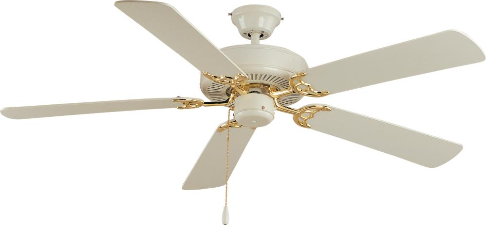 White and polished brass ceiling fan 9p1z pine lighting white and polished brass ceiling fan mozeypictures Images