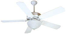 "Craftmade K10738 - Porch Fan 52"" Ceiling Fan Kit with Light Kit in White"