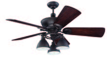 "Craftmade K11066 - Timarron 54"" Ceiling Fan Kit with Light Kit in Aged Bronze Brushed"
