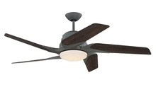 "Craftmade SOE54AGV5 - Solo Encore 54"" Ceiling Fan with Blades and LED Light Kit in Aged Galvanized"