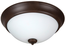 "Craftmade XP13AG-2W - Pro Builder 2 Light 13"" Flushmount in Aged Bronze Textured"