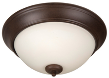 "Craftmade XP15AG-3W - Pro Builder 3 Light 15"" Flushmount in Aged Bronze Textured"