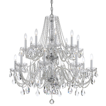 Crystorama 1139-CH-CL-MWP - Crystorama Traditional Crystal 16 Light Chrome Chandelier