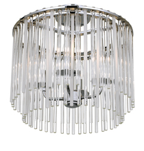 Crystorama 394-CH_CEILING - Crystorama Bleecker 4 Light Polished Chrome Ceiling Mount