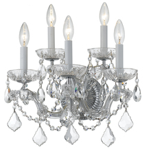 Crystorama 4404-CH-CL-MWP - Crystorama Maria Theresa 5 Light Clear Crystal Chrome Sconce II