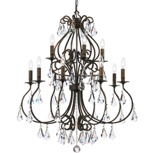 Crystorama 5017-EB-CL-MWP - Crystorama Ashton 12 Light Hand Cut Crystal Bronze Chandelier
