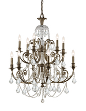 Crystorama 5119-EB-CL-MWP - Crystorama Regis 12 Light Clear Crystal Bronze Chandelier