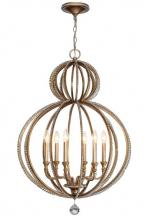 Crystorama 6766-DT - Crystorama Garland 6 Light Distressed Twilight Crystal Beads Chandelier