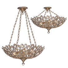 Crystorama 7587-DT - Crystorama Sterling 5 Light Distressed Twilight Chandelier