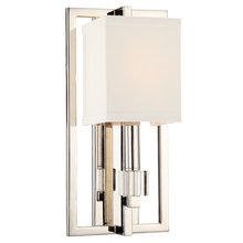 Crystorama 8881-PN - Crystorama Dixon 1 Light Polished Nickel Sconce