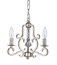Crystorama 9347-OS - Crystorama Orleans 3 Light Olde Silver Mini Chandelier