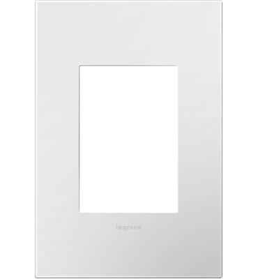 Gloss White-on-White, 1-Gang, 3-Module Wall Plate