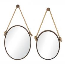Sterling Industries 53-8503 - Oval Mirrors On Rope - Set of 2