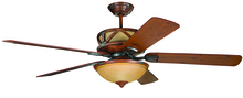 "Ellington Fan DL60DMI5CRW - Deer Lodge 60"" Ceiling Fan with Blades and Light in Dark Mahogany/Iron"