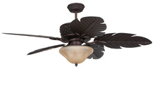 "Ellington Fan PAP52ABZ5RCDI - Pineapple 52"" Ceiling Fan with Blades in Aged Bronze Brushed"
