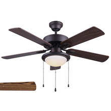 "Canarm CF42REX5ORB - CFan 42"", REX ORB,  5 Rev Blades, #6 Medium Oak / #2 Walnut, Dual Mount, No Limiter, 1 x 20W Int"