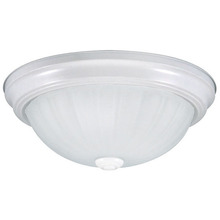 "Canarm IFM31111N - Fmount, IFM311 WH, 11"" 2 Bulb Flushmount, Frosted Melon Glass, 40W Type A"