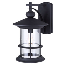 "Canarm IOL314BK - TREEHOUSE, IOL314BK, 1 Lt Outdoor Down Light, Clear Glass, 1 x 100W Type A, 11 1/2"" W x 19"""
