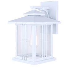 "Canarm IOL321WH - YUNA, IOL321WH, 1 Lt Outdoor Down Light, Clear Glass, 1 x 100W Type A, 9 3/4"" W x 15 1/2"" H"