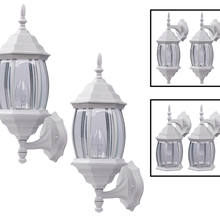 Canarm IOL73T11 - Outdoor, IOL73T WH, Twin Pack, 1 Bulb Uplight/Closed Downlight/Open Downlight, Clear Bevelled Glass