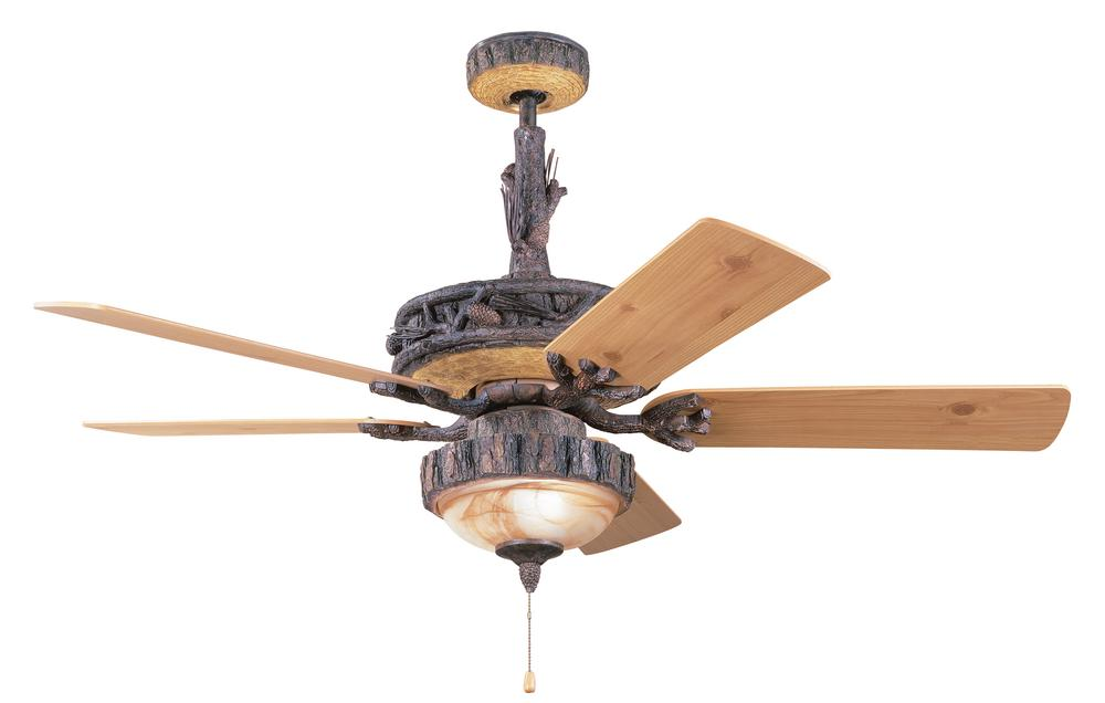 Rustic Oak Ceiling Fan : 5W2GR | PINE LIGHTING