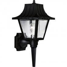 Progress P5815-31 - One Light Black Clear Beveled Acrylic Glass Wall Lantern