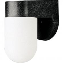 Progress P5817-31 - One Light Black White Acrylic Diffuser Glass Outdoor Wall Light
