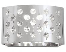 DVI DVP0401CH-CRY - One Light Chrome Clear Optic Glass Wall Light
