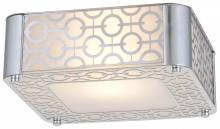 DVI DVP5841CH-OP - One Light Chrome Half Opal Glass Flush Mount