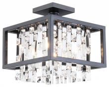 "DVI DVP6311GR-CRY - 12"" Semi Flush Mount"