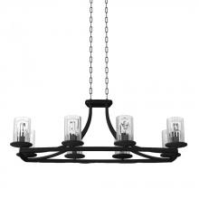 DVI DVP9032GR-RI - Eight Light Linear Chandelier