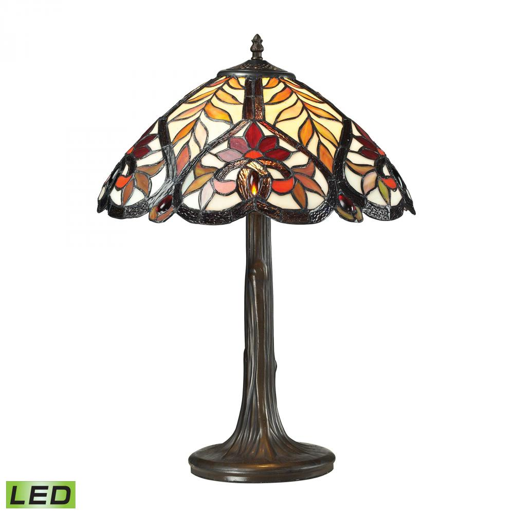 Brimford 1 Light LED Table Lamp In Dark Bronze