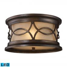 ELK Lighting 41999/2-LED - Burlington Junction 2 Light Outdoor LED Flush Mo