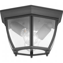 Progress P550036-031 - New Haven Collection Two-LightOutdoor Flush Mount, Black Finish