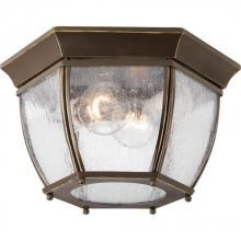 Progress P6019-20 - Roman Coach Collection Two-Light Flush Mount
