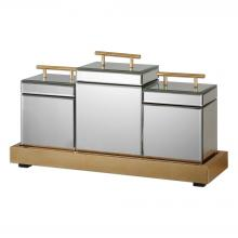 Uttermost 20131 - Uttermost Faustina Mirrored Boxes And Tray S/4